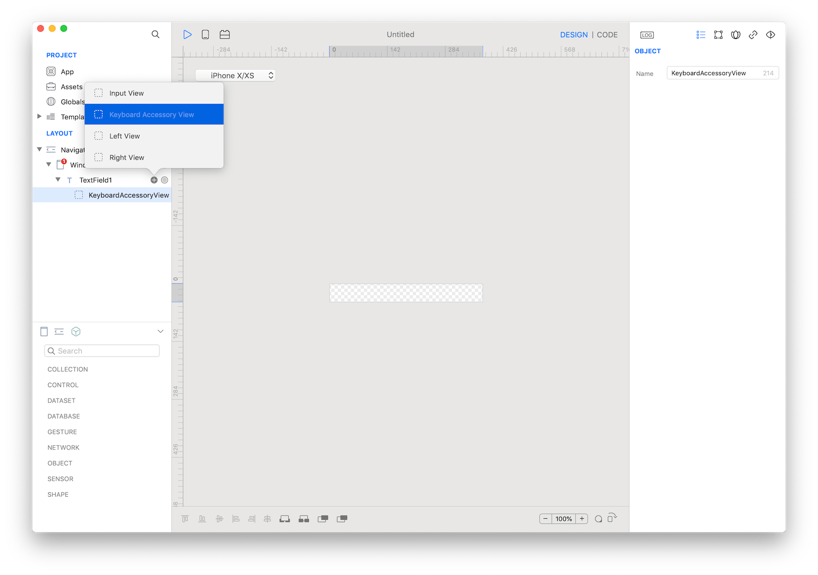 `TextField` keyboard accessory view